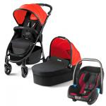 Recaro Citylife 3 in1 Stroller - From birth up to approx. 17.5 kg Ruby