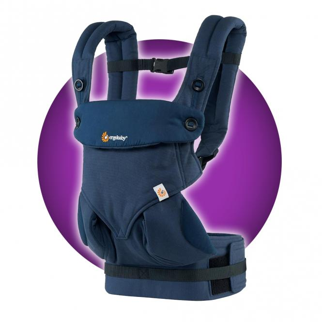Ergobaby 4 Positionen 360 Komforttrage Midnight Blue