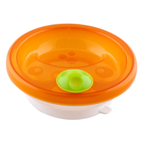 Primamma Warming Plate with Suction Ring Orange