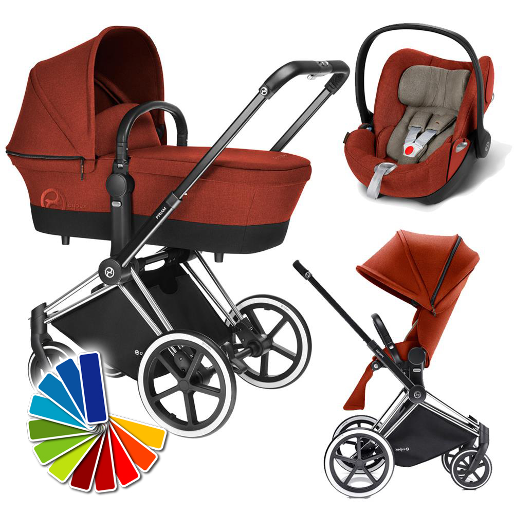 babywaren24 cybex priam chrome stroller incl carrycot lux seat infant carseat cloud q. Black Bedroom Furniture Sets. Home Design Ideas