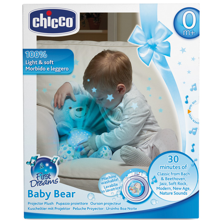 Babywaren24 Chicco First Dreams Baby Bear Night Light Star Projector Blue Purchase Online